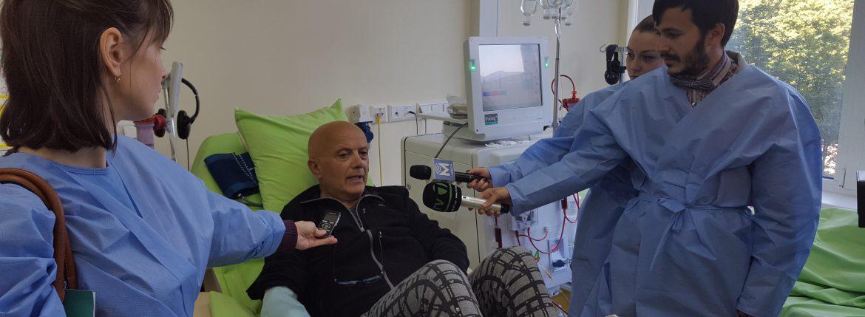 Giuseppe Monteleone, pacient venit din Italia.  foto: dializa.md